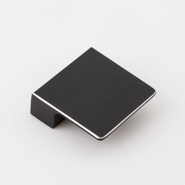 블랙 실버라인 가구손잡이 (32mm)