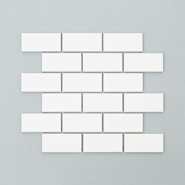 직사각 모자이크 타일 290x341 1장 - 화이트 무광