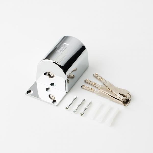 자동유리문(슬라이드) 보조 잠금장치