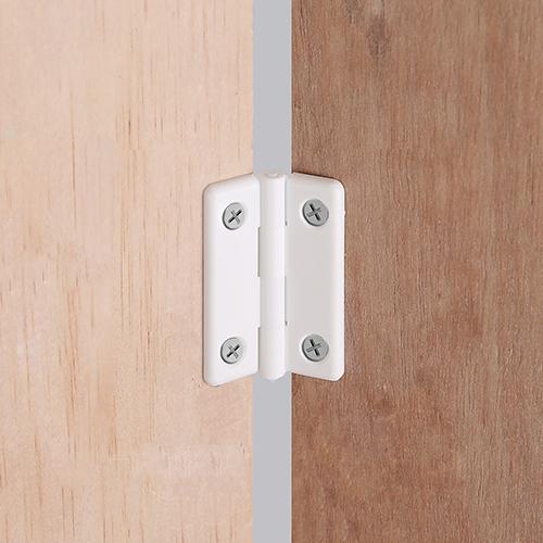 화이트 PVC 가구경첩 (사이즈선택)