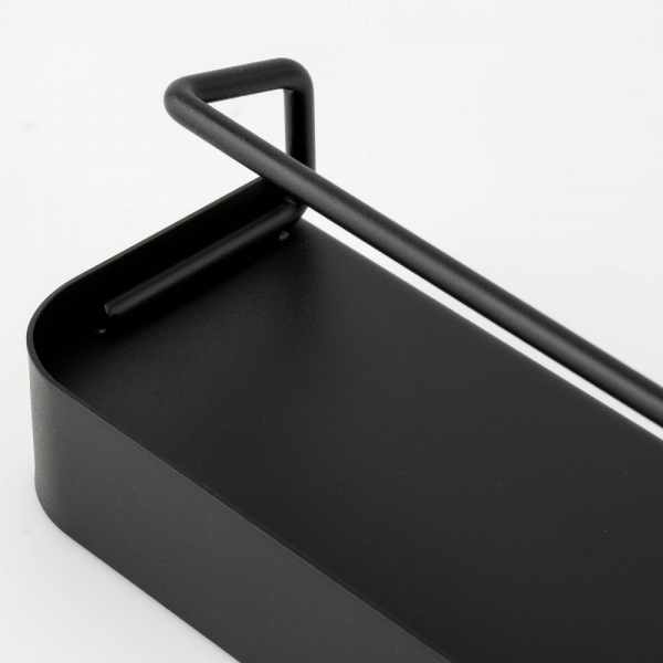 모더미 블랙 라운딩 미니 벽선반