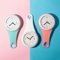 파스텔 욕실 방수시계 (3color)
