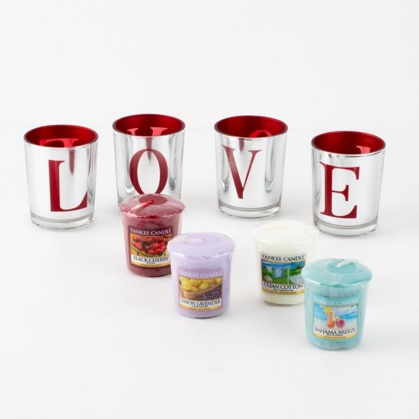 [최저가] 양키캔들 보티브 LOVE 선물세트(캔들홀더4p+캔들4p+쇼핑백)