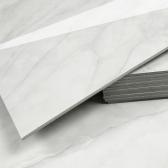 3T 스티커형 접착식 데코타일(TL-08) 유광 대리석 마블크림화이트 - 1BOX-12장