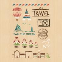 스텐실 도안_travel set (A4)