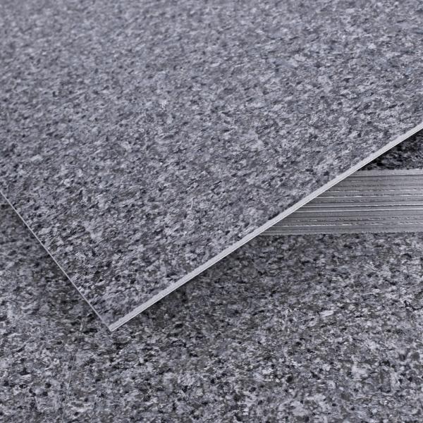 3T 스티커형 접착식 데코타일(TL-12) 무광 그래니트 딥그레이 엠보스 - 1BOX-12장