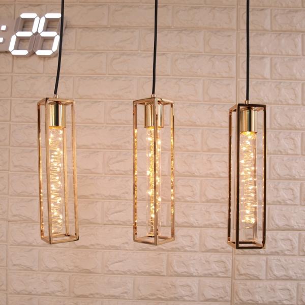 페이브 3등 펜던트 (LED 은하수 전구 포함)