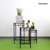 [핸즈홈] 센스틸 모자이크 사이드 테이블 세트(3개1SET)(3908)  커피테이블 협탁 화분진열대 화분거치대 정리대