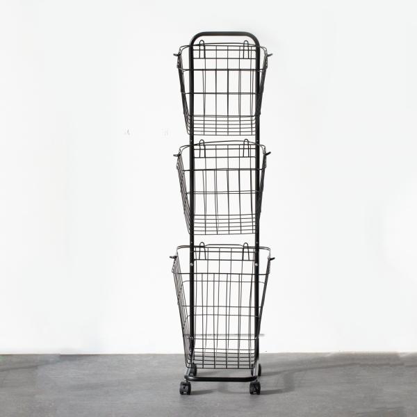 [무료배송] 인더프레임 사각 햄퍼 빨래보관함 3단 2color