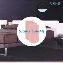 [무지막지워터풀 실크]풀바른 네폭벽지 단색 차이나베리 (53cmx2.35mx04폭)
