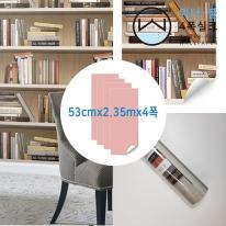 [무지막지 워터풀 실크]풀바른 네폭벽지 패턴 책장 (53cmx2.35mx04폭)