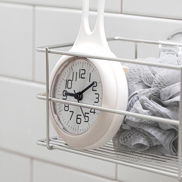 더 심플 화이트 욕실방수시계