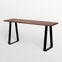슬림 원목 철제 테이블