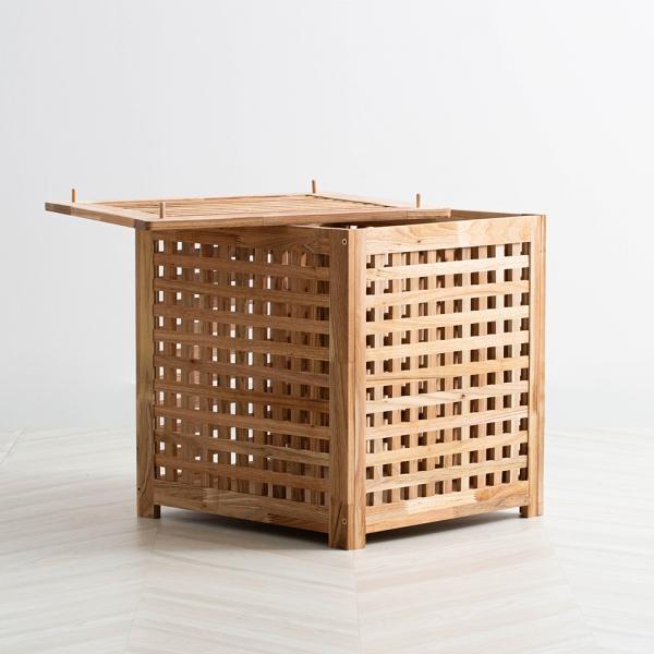 내츄럴 원목 수납 테이블