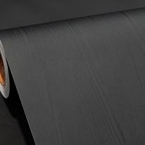 현대 페인티드우드/무늬목시트지/칼라 무늬목시트 - 블랙(HPW-22710)
