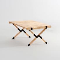 [당일출고] 문캠핑 접이식 원목 롤테이블 내츄럴 - 중