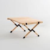 [예약판매] 문캠핑 접이식 원목 롤테이블 내츄럴 - 중