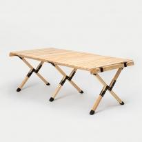 [당일출고] 문캠핑 접이식 원목 롤테이블 내츄럴 - 대
