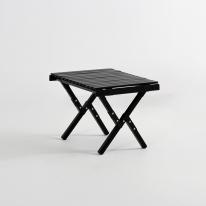 [당일출고] 문캠핑 접이식 원목 롤테이블 블랙 - 소