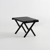 문캠핑 접이식 원목 롤테이블 블랙 - 소