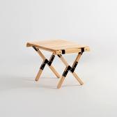 문캠핑 접이식 원목 롤테이블 내츄럴 - 소
