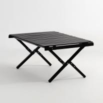 문캠핑 접이식 롤테이블 블랙