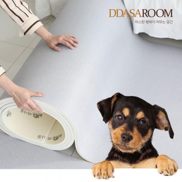 [따사룸] PVC 미끄럼방지 폭110cm 강아지매트 14T 롤매트 1M