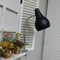 스프링 LED 집게 스탠드 (블랙)