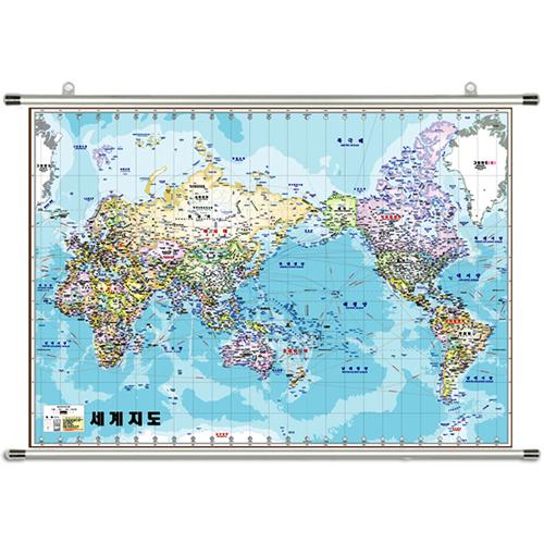 세계지도 족자 지도 150 x 110cm 대형 세계전도 보기