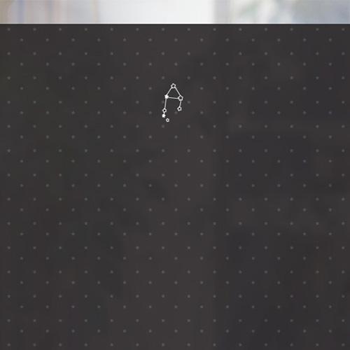 [컬러 안개시트]블랙 심플 천칭자리