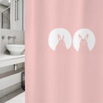 [샤워 커튼]래빗 01 핑크