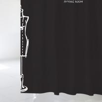 [샤워 커튼]블랙 피팅룸 B