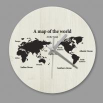 [디자인 시계]빈티지 세계지도