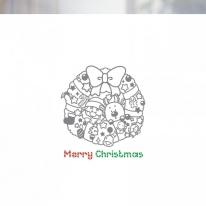 [불투명 창문시트]크리스마스 스타일 NTCCW07