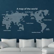 [그래픽 스티커]삼각 모던 세계지도