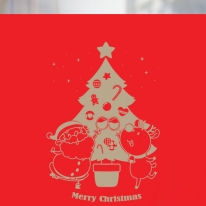 [불투명 창문시트]크리스마스 스타일 NTCCW16