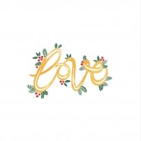 크리스마스컷트지 면20수 러브 (154775)