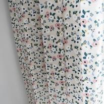포플커튼 꽃무늬