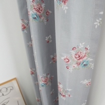코지플라워 꽃무늬 작은창 커튼
