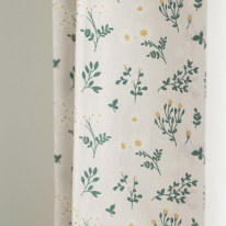 그리너리 꽃무늬 작은창 커튼