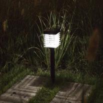 태양광 LED 정원등 / 가든램프(2 SMD LED/White) 메탈 지지대 / LED 램프