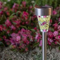 태양광 LED 정원등 / 옐로우 모자이크 / 600mAh