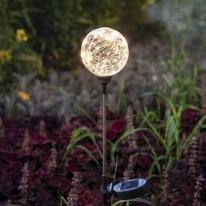 태양광 LED 정원등 / 라운드형 / 웜화이트 / 600mAh