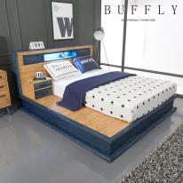 [버플리]탐펠 빅사이즈 원목 침대 + 매트리스