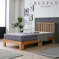 버플리 레일리 원목 퀸 침대_일반형 + 매트리스