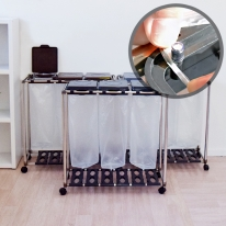 [홈스웰]원더캡 재활용분리수거함3P