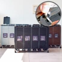 [홈스웰]원더캡 커블리 재활용분리수거함4P