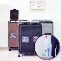 [홈스웰]원더캡 커블리 재활용분리수거함2P+전용 비닐봉투 100매