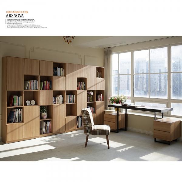 아르스노바 댄디 서재책장세트 3200 (오크)+책상