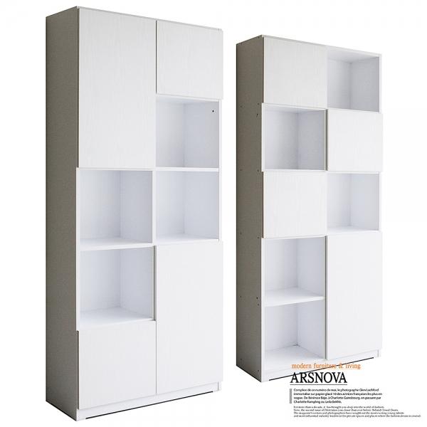 아르스노바 댄디 서재책장세트 1600 (화이트)